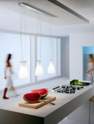 luminator люминатор \ Bell S3L three-light linear suspension.