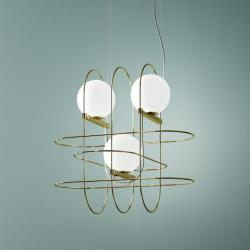 luminator люминатор \ Setareh suspension lamp with three spheres.
