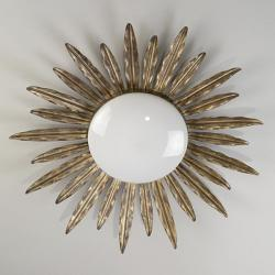 Sunburst Flush Ceiling Light.