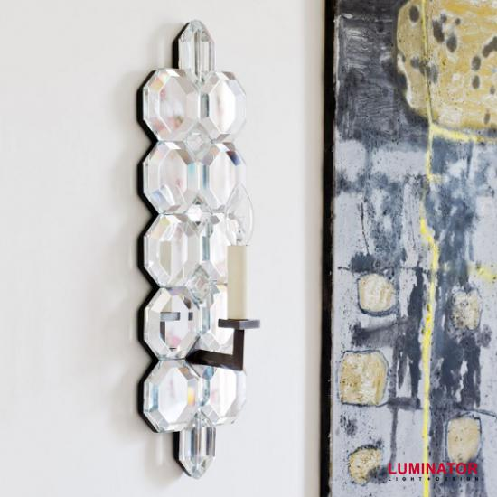 luminator люминатор / Standish Mirrored Glass Wall Light. Настенные